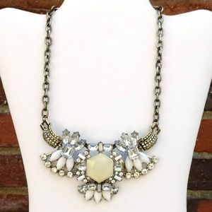 Jewelry - Ornate bead and cz statement necklace